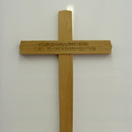 Solid Oak Cross