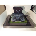 Granite Teddy with Kerb